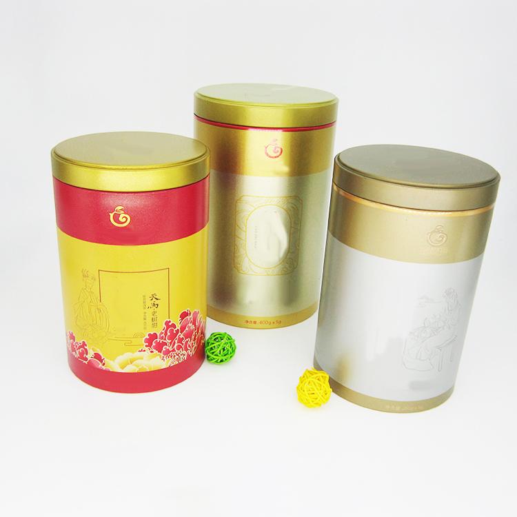 圆形茶叶铁罐