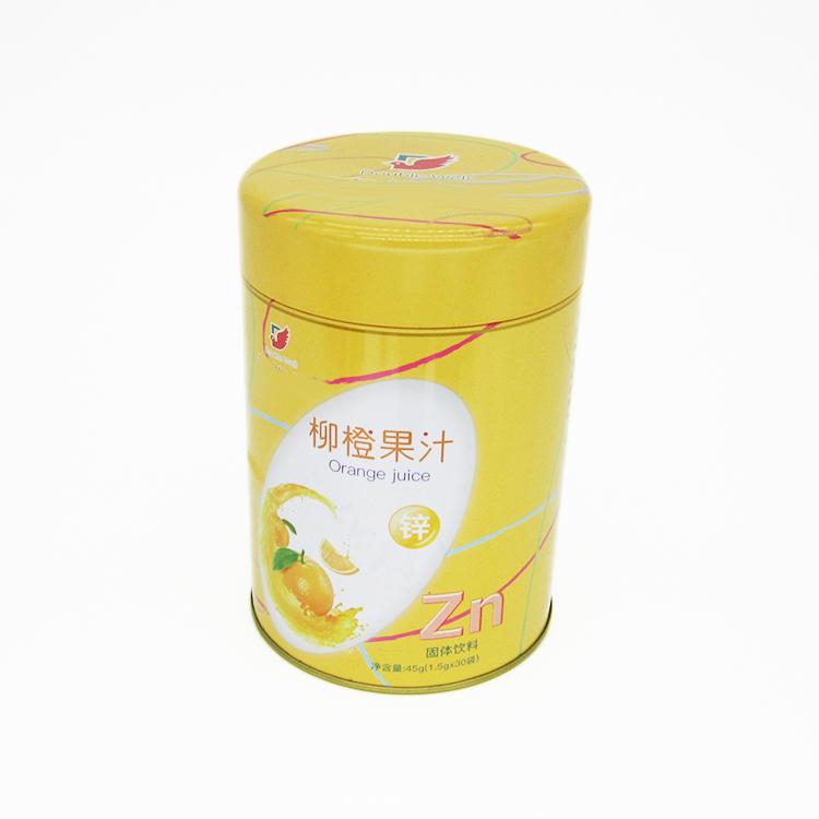 圆形固体饮料铁罐