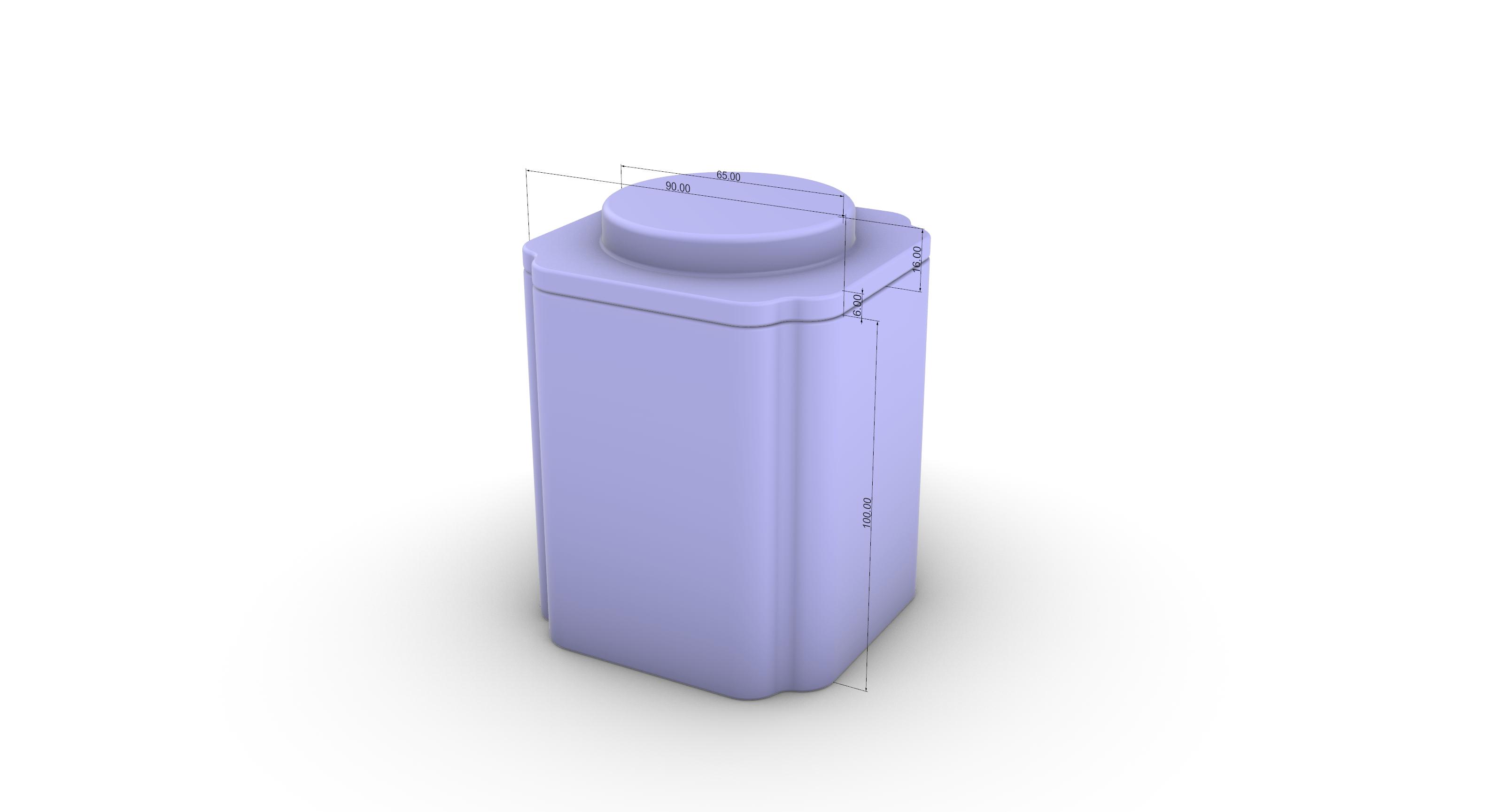 茶叶铁罐结构设计